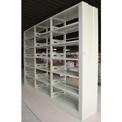 佛山六层双面图书架钢柜书架图书室书架配套书柜