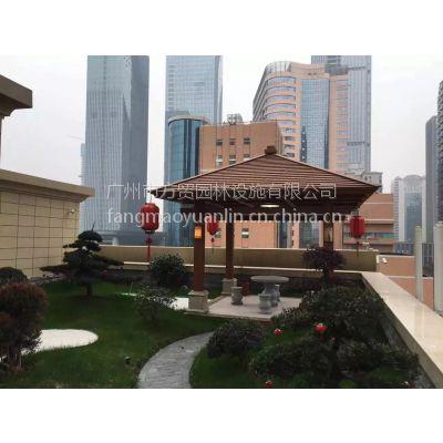 方贸园林广东景观行业凉亭厂家,防腐木方形花架工程,廊架定做