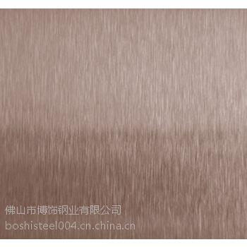 供应宁夏彩色不锈钢板,彩色不锈钢金黄色雪花砂板/发纹板
