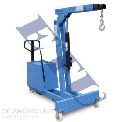 ETU易梯优,TMC550型平衡重式单臂吊,独特双活塞油缸设计,效率翻倍