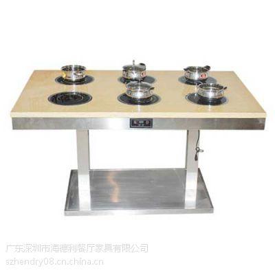钢化玻璃火锅桌促销 实惠型火锅餐台 中高档餐厅火锅桌子 批发定做
