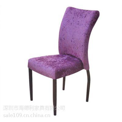 简约现代 地中海风格奢华高背餐椅 新古典绒布护背椅 铁艺休闲椅