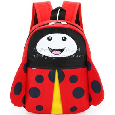 七星瓢虫学生书包 儿园中大班背包可爱卡通男孩女孩儿童双肩包 无锡瑞丰达