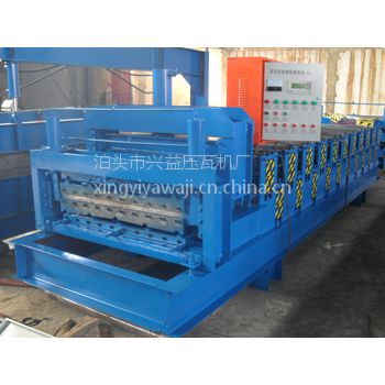 兴益全自动压瓦机840-900双层琉璃瓦设备