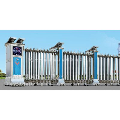 北京华捷盛 厂家特供不锈钢伸缩门 专业伸缩门制造
