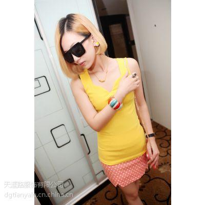 外贸原单尾货女装夏季款短袖连衣裙打底衫地摊夜市清仓处理货源