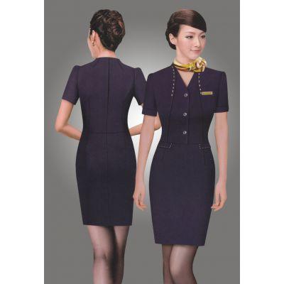 哥登夏季时尚OL酒店职业装女装夏装连衣裙女士气质修身成都工作服定做