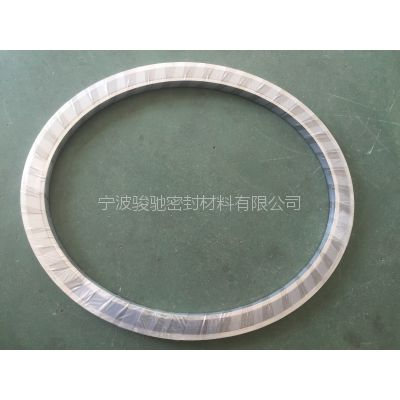 异形金属缠绕垫片|骏驰出品锅炉用人孔法兰密封垫片
