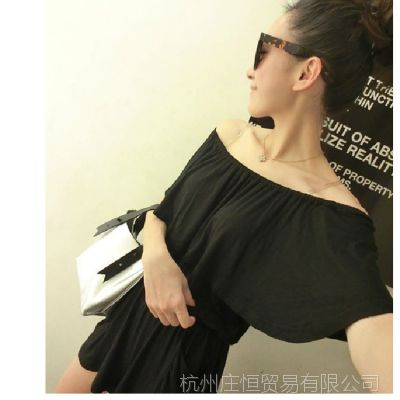 【YESWOMEN】小宜定制 韩版女装新款夏装 荷叶边舒适连体短裤