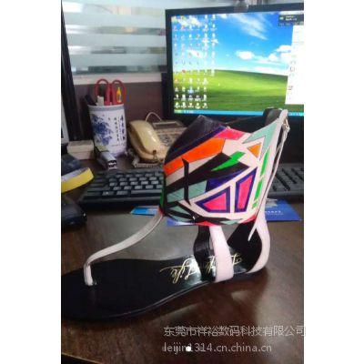 广州皮革数码印花设备厂家 皮革鞋面数码喷绘彩印加工厂