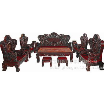 供应红木家具   明清仿古中式古典  雕花红木沙发11件套 大九龙沙发