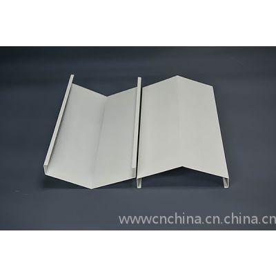 V型铝挂片吊顶铝天花|室内白色V字形状铝挂片