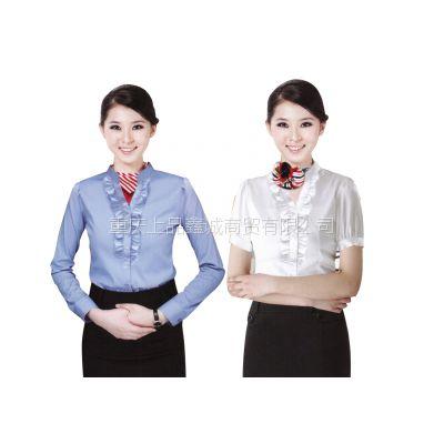 重庆销售员夏季工作服定制,员工衬衫工作装定制