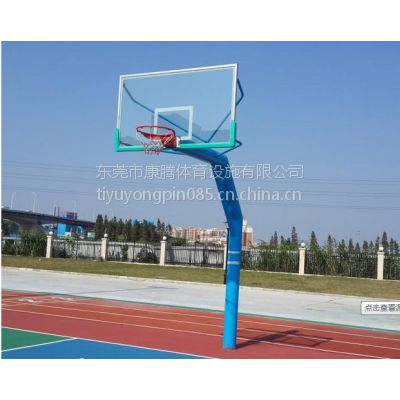 室外标准地埋式篮球架价格 小区公园广场健身器材篮球架安装