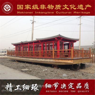 大型景区合作木船厂家,专业生产定制休闲餐饮画舫木船