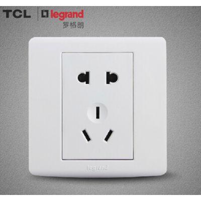 供应TCL-罗格朗86型墙壁开关插座面板批发工程TCL开关插座