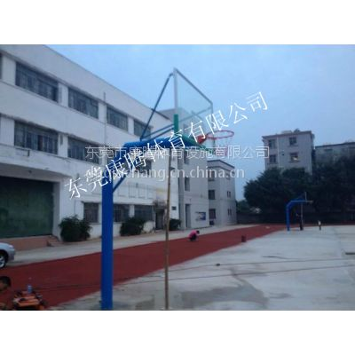 标准篮球场的架子有哪些类型 怎么选择 东莞康腾移动液压式篮球架 固定篮球架厂家直销