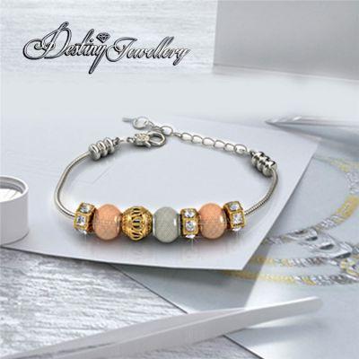 戴思妮 转运珠手链手镯 采用施华洛世奇元素 水晶时尚女士欧美贵族手链 厂家直销
