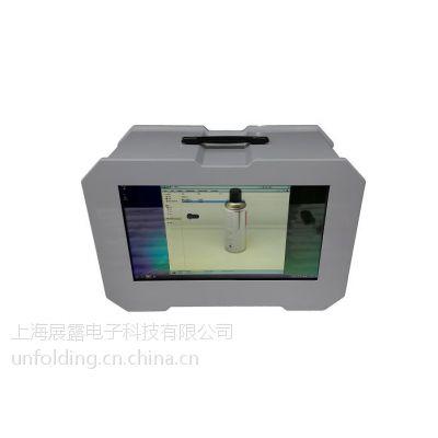 上海展露UNF-46寸透明屏展示柜广告触摸查询一体机