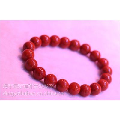 南红玛瑙手链价格 4A玫瑰红满肉 四川凉山料 国人之链