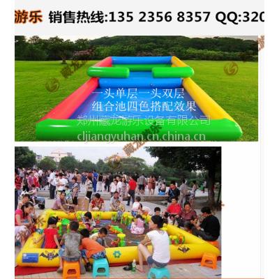 儿童沙滩池气垫制作厂家 彩色充气沙滩池热卖了 儿童玩沙子的气垫单卖吗
