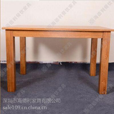 厂价促销 奶茶店休闲桌 水曲柳原实木餐桌 西餐厅咖啡厅组合餐桌