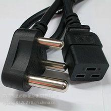 小南非三插品字尾/梅花尾电源线 SABS认证 三芯南非插头电源线