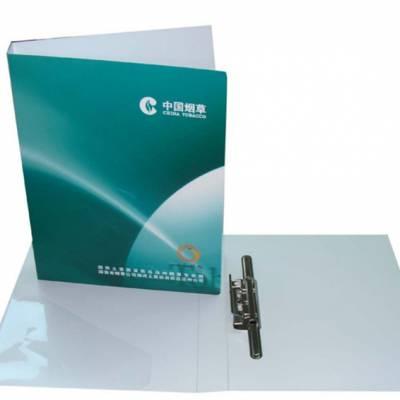 万顺 双面彩色印刷文件夹 PP长押式资料夹 展业文件册