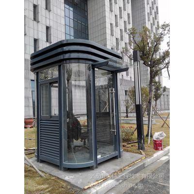 宁波圆弧钢结构玻璃岗亭