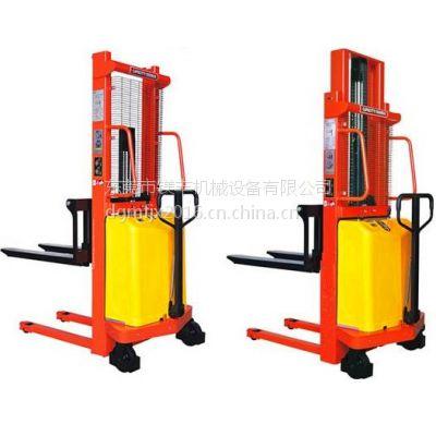 厂家直销 1T1.5T2T手推电动升降叉车 电动堆高机 高度可达1.6米-3.5米