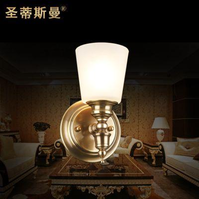 小巧过道壁灯 全铜镜前灯 卫生间灯具 欧式简约 室内壁灯
