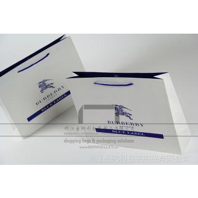 生产博柏利服装手提袋,供应Burberry购物包装袋,杭州定做高端礼品袋