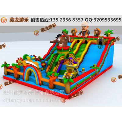 小孩溜滑梯多少钱能买到 儿童乐园气垫都有多大规格的 小孩玩的气床的多大