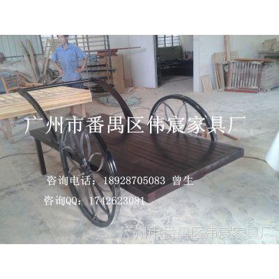 广州优质户外花车厂家 实木花车花箱园林园艺景观花车