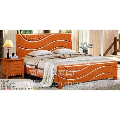 全实木床 双人床中式床 1.8米储物高箱床 品牌床橡木床婚