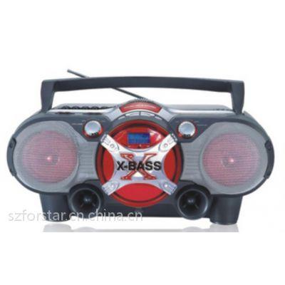 便携式多功能播放器Portable CD boombox/FORSTAR FSD856