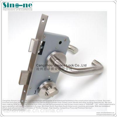 锁厂直销德标甲级欧标锁体防火锁不锈钢执手锁插芯锁消防通道锁具