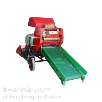 黑龙江生产秸秆青贮机,秸秆打捆包膜机曲阜圣鸿价格最低