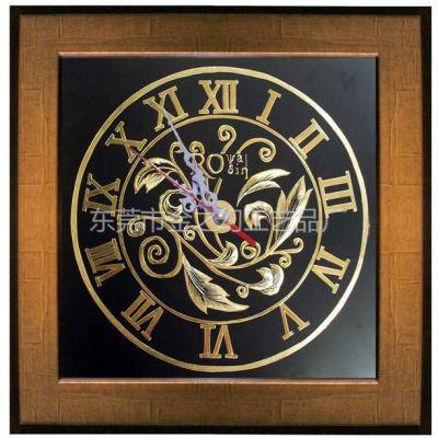 供应纯手工金雕画---欧式钟表