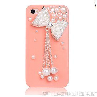 iphone6蝴蝶 吊坠雪糕手机壳 diy苹果5/5s手机保护套批发