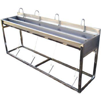 QS必备消毒洗手池 食品厂不锈钢洗手池定做