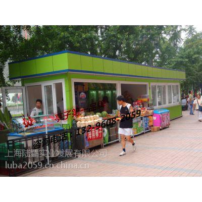 湖南岳阳零售售货亭 社区玻璃售货亭图片