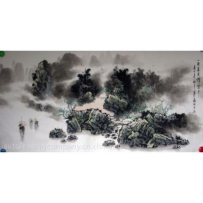 非凡珍藏墨岩山水136*68