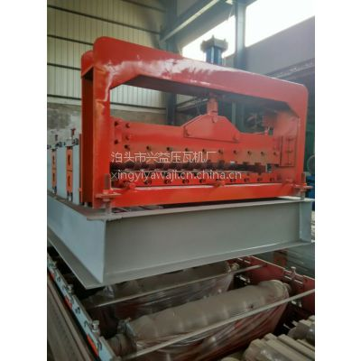 兴益全自动压瓦机800型卷帘门压瓦机