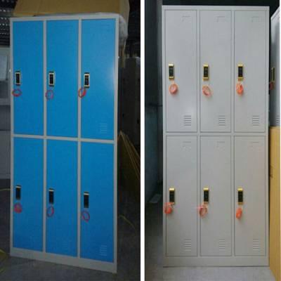 宣城插卡式自助更衣柜 员工置物柜订做 宿舍6门储物柜图片及价格