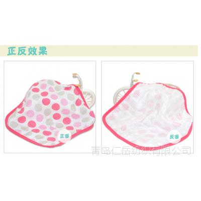 竹纤维三层纱布方巾 纱布口水巾 儿童卡通方巾 S-020