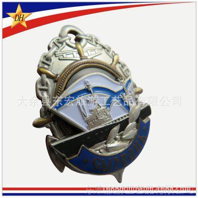 铜烤漆徽章订做 金属材质 滴胶徽章 烤漆证章生产