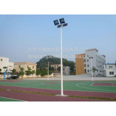 东莞球场灯柱 户外篮球场照明镀锌灯杆 送货安装