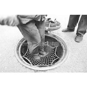 供应下水道防护网,窨井盖井口防坠网,检查井口保护网