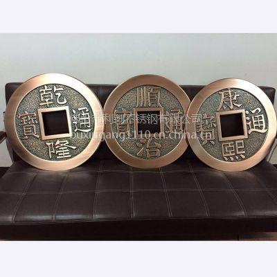 佛山铝雕刻加工定制 加厚铝古币镀铜批发定制 利创新品20铝制品雕刻加工